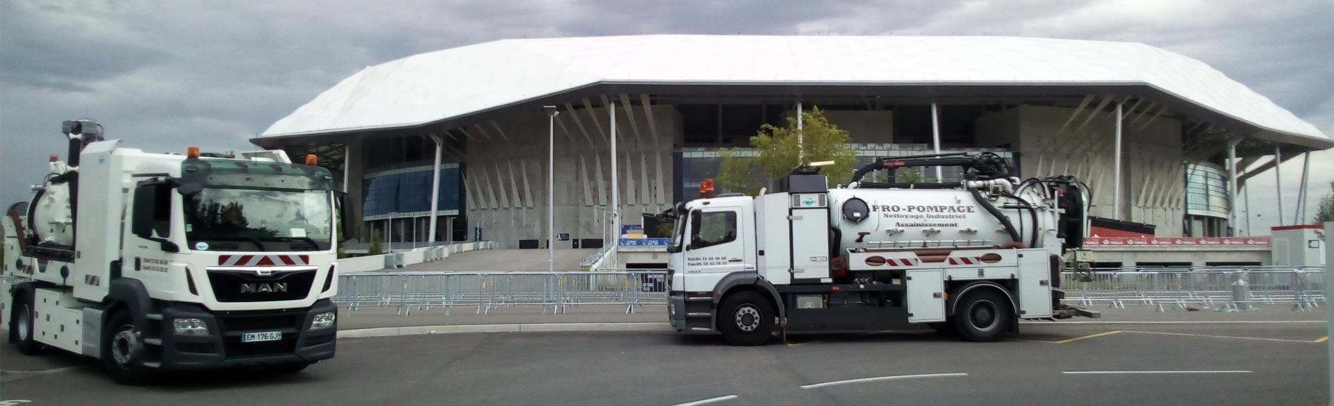 camion pro pompage stade olympique lyonnais